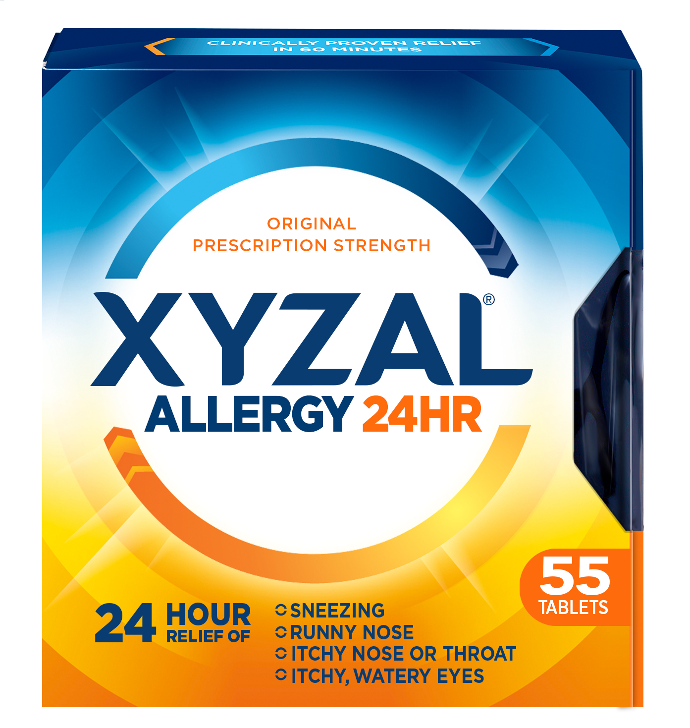 Xyzal 24 Hour Allergy Relief Tablets, 55ct