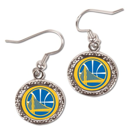 Golden State Warriors WinCraft Women's Round Dangle Earrings - No Size