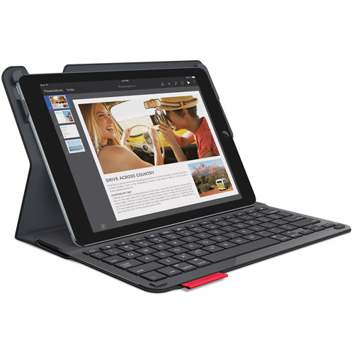 Logitech Type+ Protective Case with Integrated Keyboard for AppleiPad Air 2