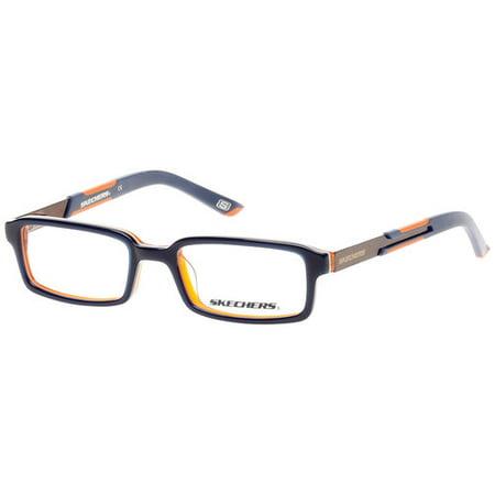 b1dd4a620c78 Skechers Boy's Eyeglass Frames, Navy/Orange - Walmart.com