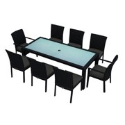 Harmonia Living Urbana 9 Piece Patio Dining Set in Canvas Charcoal