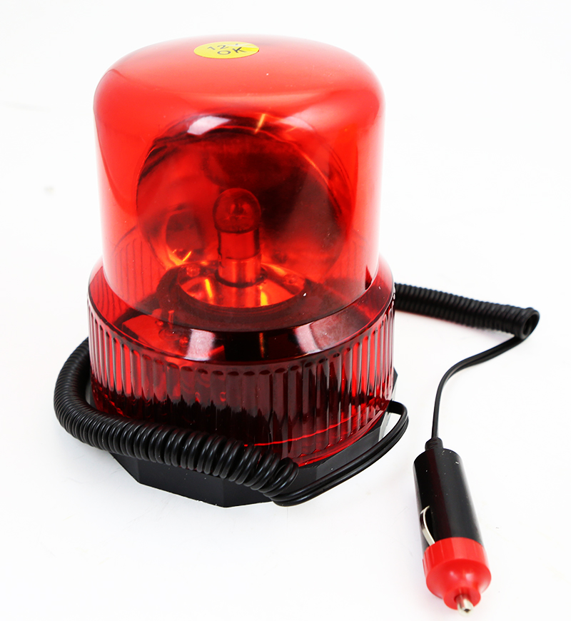 12V 10' Automatic Revolving Strobe Security Warning Caution Beacon Light, Red