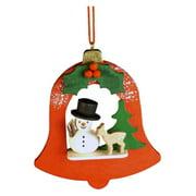 Christian Ulbricht Snowman in Red Bell Ornament