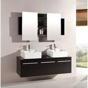 Kokols Agni 60 in. Double Bathroom Vanity Set