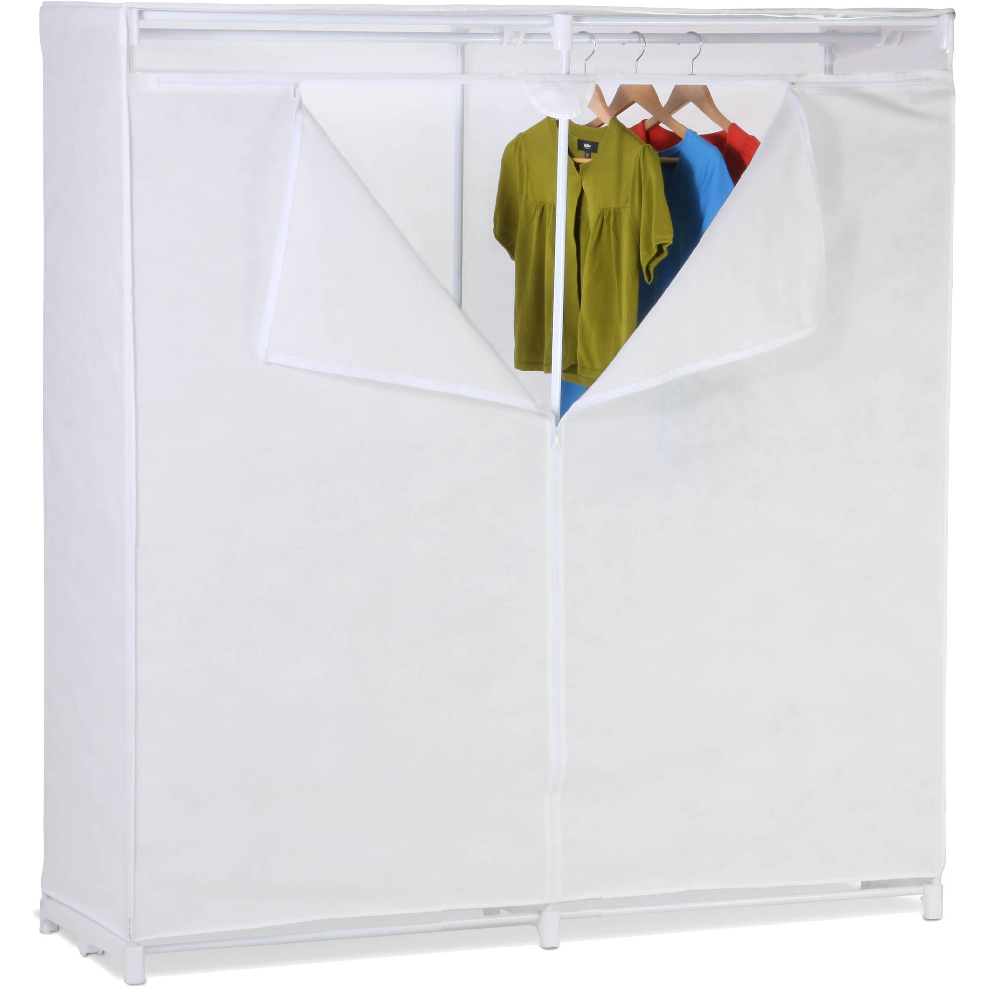 "Honey Can Do 60"" Storage Closet with Fabric Cover, White"