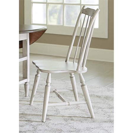 Liberty Furniture Oak Hill Windsor Back Dining Side Chair in White
