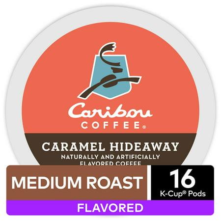 Caribou Coffee Caramel Hideaway, Flavored Keurig K-Cup Pod, Medium Roast, 16 Ct (Keurig Coffee Caribou)