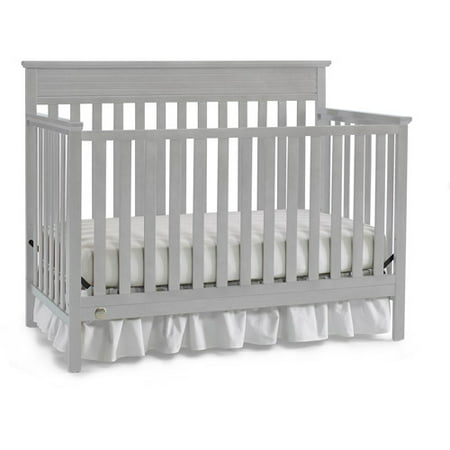 Fisher-Price Newbury 4-in-1 Convertible Crib, Misty Gray ()