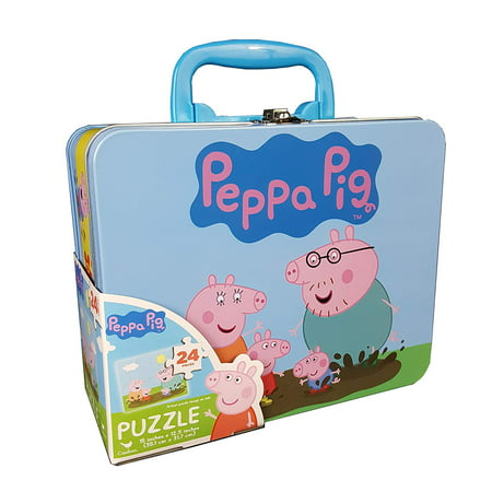 - Cardinal Industries Peppa Pig Puzzle in Tin with Handle (24 Pieces)