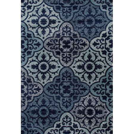 Transitional Outdoor Rug - Classic Transitional Woven Area Rug with Tile Work Design, 012