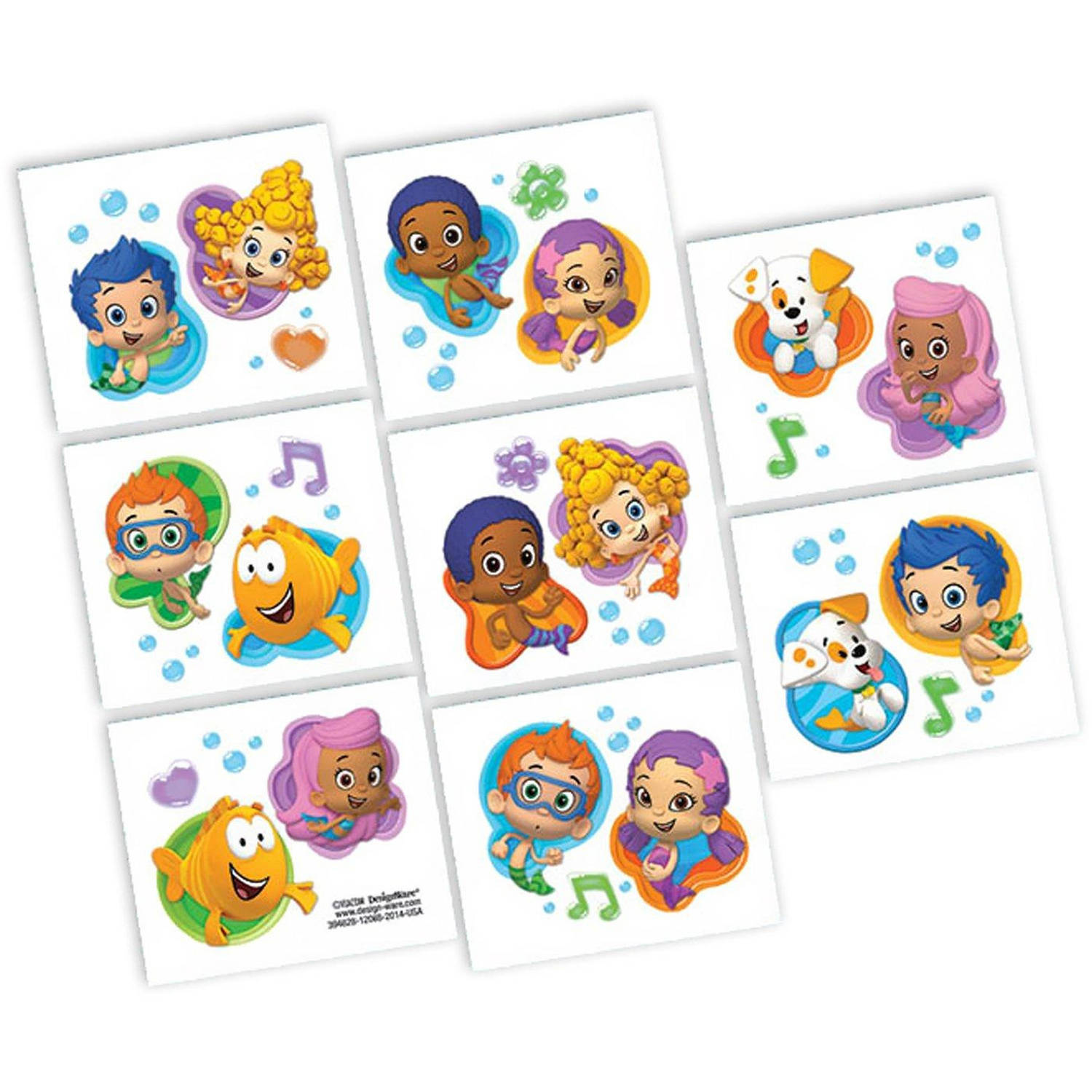 Bubble Guppies Tattoos, 8pk