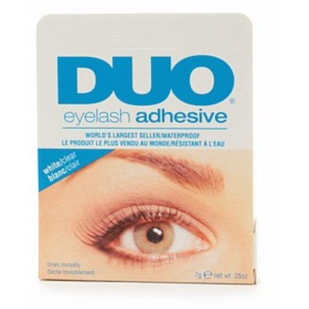 Duo Water Proof Eyelash Adhesive, Clear-White 1/4 oz (Pack of 3)