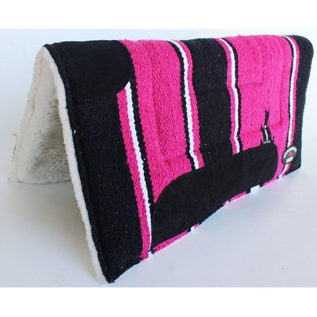 "Horse SADDLE PAD 22""X22"" Cotton Acrylic Wool Felt Fur Rodeo Tack 39162"