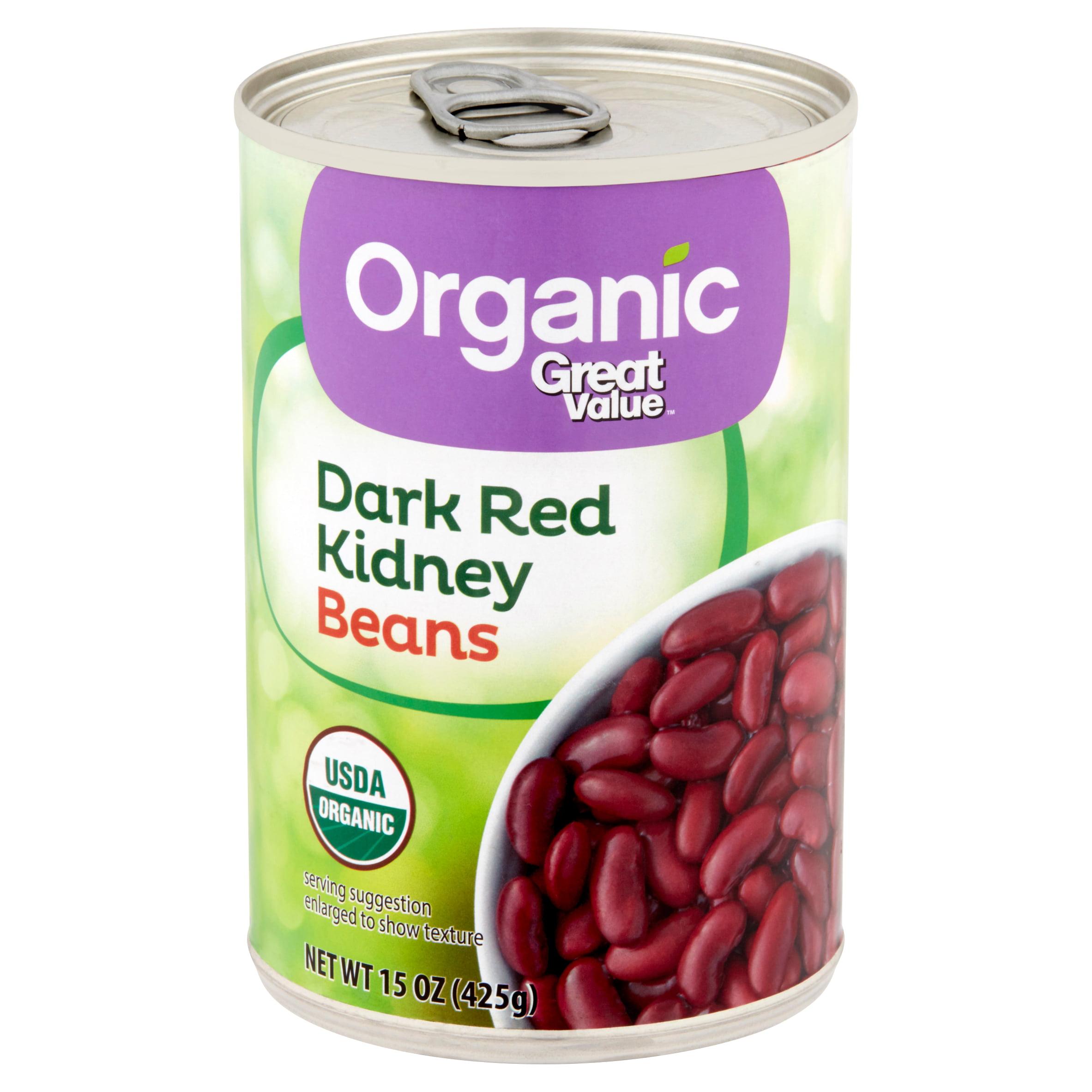 Great Value Organic Dark Red Kidney Beans 15 Oz Brickseek