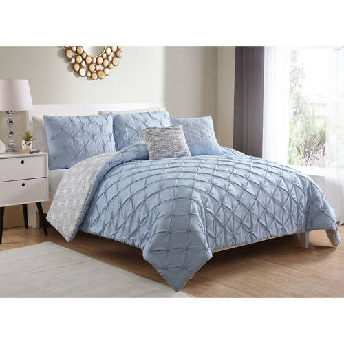 VCNY Home Ziva Pinch Pleat Reversible Bedding Comforter Set, Multiple Colors