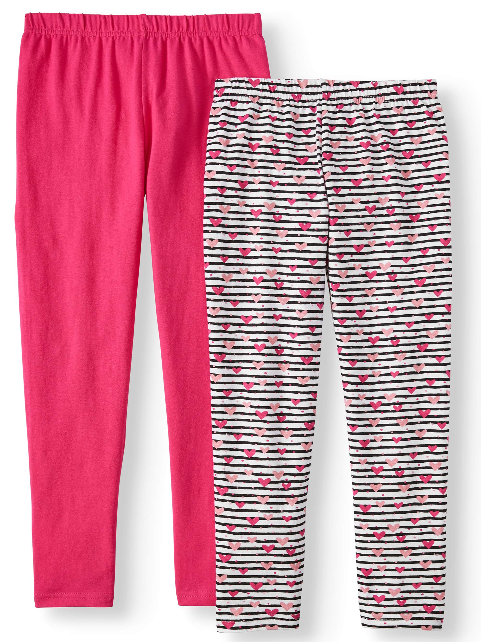 Printed and Solid Leggings, 2-Pack (Little Girls & Big Girls)