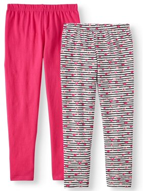 e87bb6879b73b Product Image Printed and Solid Leggings, 2-Pack (Little Girls & Big Girls)