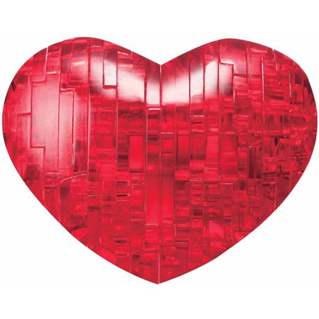 Standard 3D Crystal Puzzle - Heart (red)](Heart Puzzle)