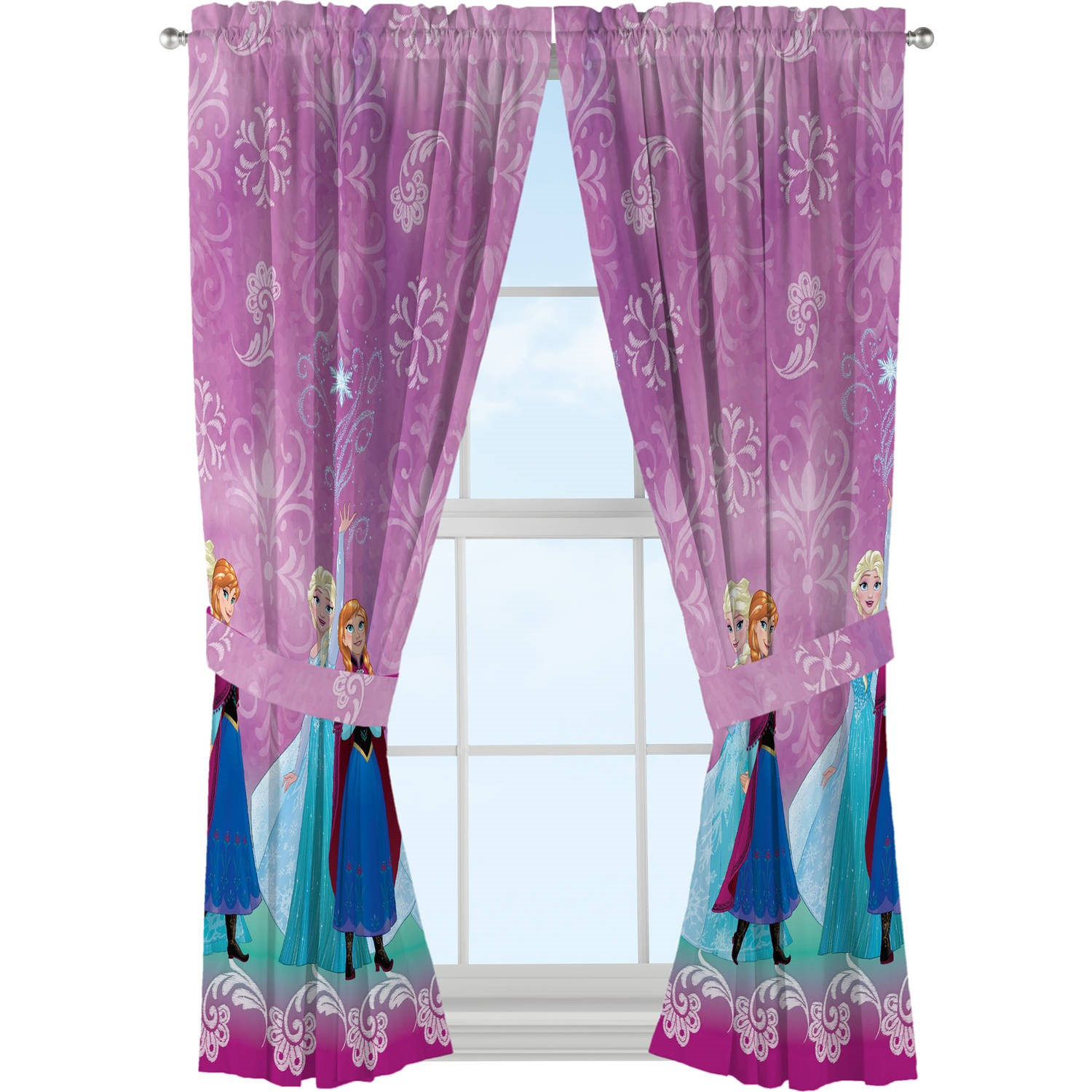bedroom curtains at walmart disney s frozen nordic bedroom curtains 14257