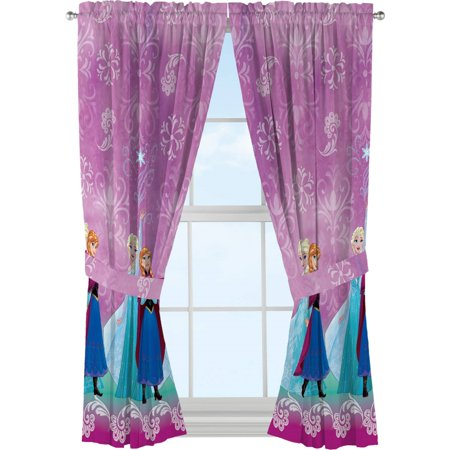 Disney Frozen \'Nordic Wonder\' Girls Bedroom Curtain Set - Walmart.com
