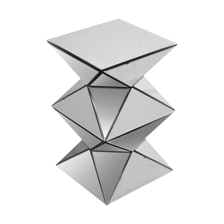 Acme Furniture Nyoka Pedestal Stand, Mirrored