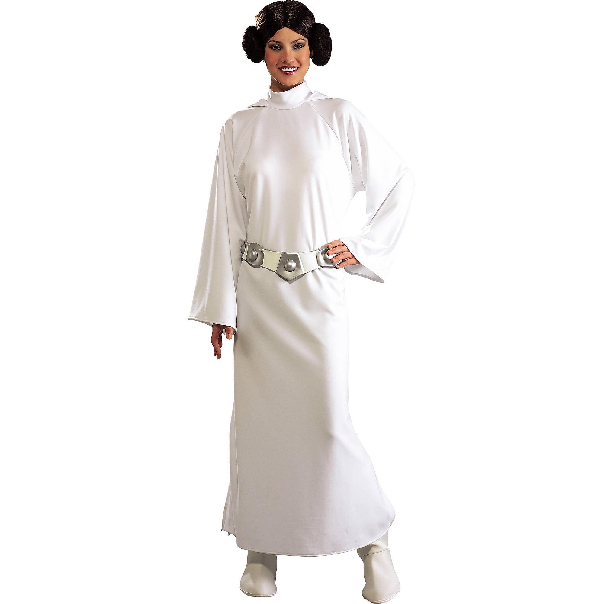 Princess Leia Deluxe Adult Halloween Costume One Size Walmart