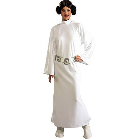 Princess Leia Deluxe Adult Halloween Costume - One Size - Lei Costume