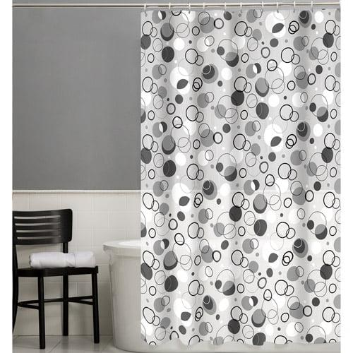 Maytex Ring Toss 13-Piece PEVA Shower Curtain Set