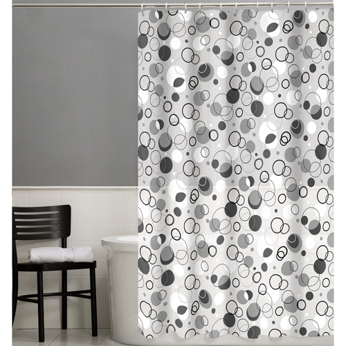 Maytex Ring Toss 13-Piece PEVA Shower Curtain Set
