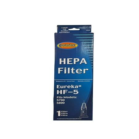 (1) Eureka Sanitaire 61830 HF5 HEPA Vacuum Filter for Boss, Genesis, Signature, Litespeed, Refurb Powerline, Whirlwind Upright Vacuum Cleaners, 61830, 61830A, 61840 Series #F943