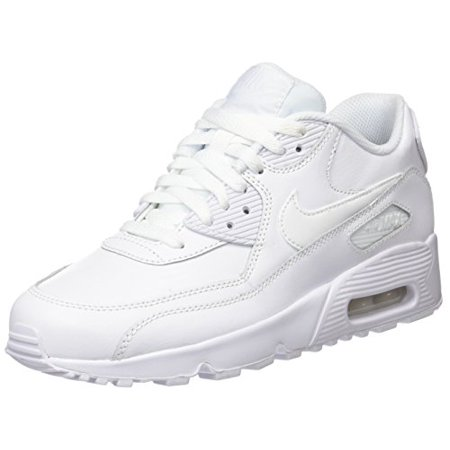 Nike Kids Air Max 90 LTR (GS) WhiteWhite Running Shoe 6 Kids US