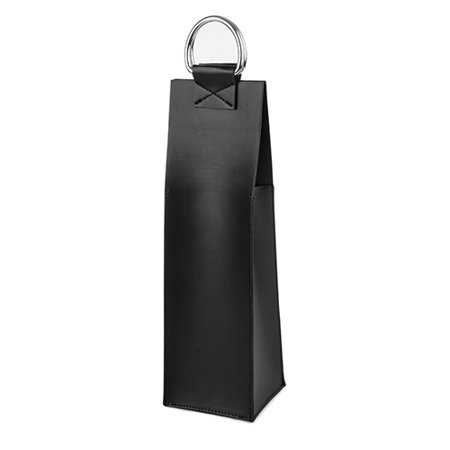 Admiral™ Faux Leather Black Wine Tote (Faux Leather Tote)