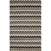 """Trans Ocean by Liora Manne Seville Zigzag Stripe Black, White 2'3"""" x 8' Rug"""