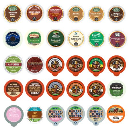 Decaf Single Serve Coffee Cups for Keurig, Variety Pacl, 30 Ct