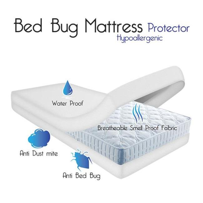 Remedy Bed Bug Dust Mite Cotton Mattress Protector- Twin