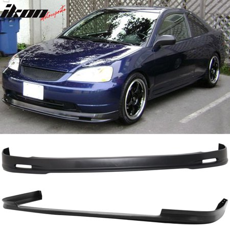 Compatible with 01-03 Civic 4Dr MU Style Front + TR Style Rear Bumper Lip Spoiler - (G2 Rear Bumper)