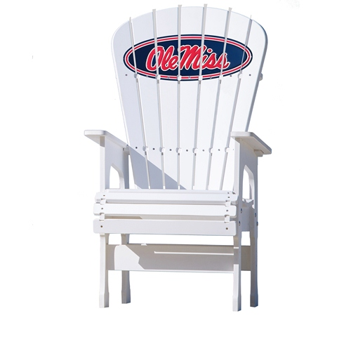 NCAA High Back Chair by Key Largo Adirondack - Ole Miss Rebels