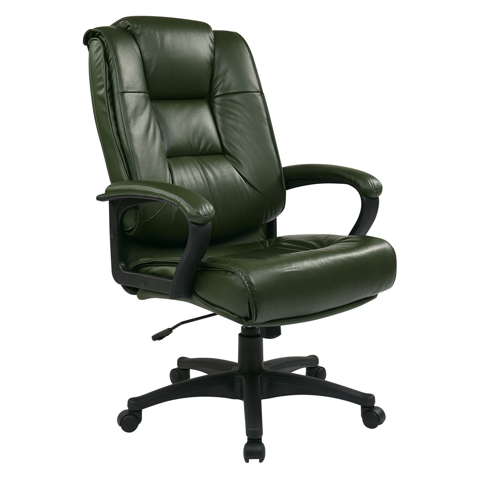 Executive High-Back Glove Soft Leather Chair with Padded Loop Arms
