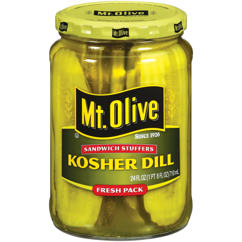 Mt. Olive Kosher Dill Sandwich Stuffers Fresh Pack Pickles 24 fl. oz. Jar by Cucumber & Vine