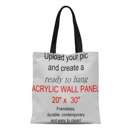ASHLEIGH Canvas Tote Bag Panel X Add Pics and Ready Hang Wedding Engagement Reusable Handbag Shoulder Grocery Shopping - Wedding Pie