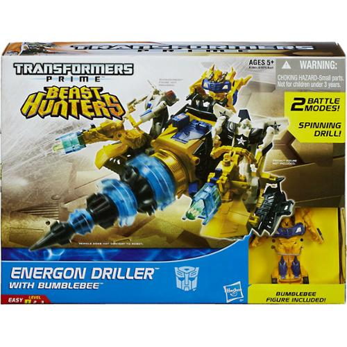 Transformers Prime Beast Hunters Energon Driller Vehicle with Bumblebee Action Figure