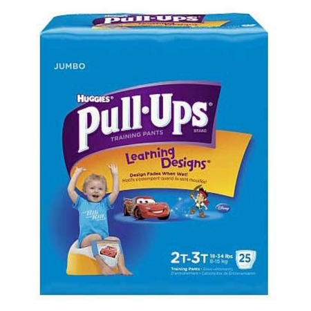 Youth Training Pants Pull-Ups Learning Designs Pull On 2T - 3T Disposable ''Case of 100''