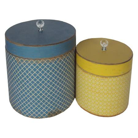 VIP International Round Hat Box - Set of 2