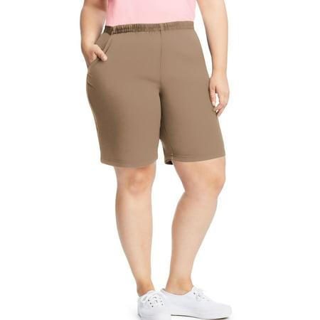 72b70300bdf Just My Size - Just My Size Womens Stretch Denim 2-Pocket Pull-On Shorts