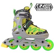 Lenexa Lemon Twist Kids Rollerblades - Patines Roller Blades for a Kid (Girl/Girls, Boy/Boys) - Adjustable Comfortable Inline Skates for Children (Green/Yellow)