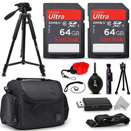 Professional Accessory Kit for Nikon DSLR Cameras, Includes: 128GB SD Memory Card, Padded Case, 60? Tripod, Universal Reader, Cleaning Tools and Photography