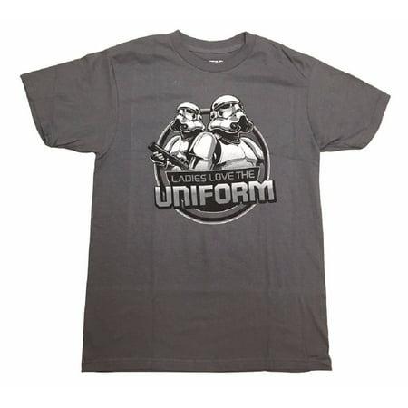 Star Wars Movie Ladies Love The Uniform Adult T-Shirt (Star Wars Uniforms For Sale)