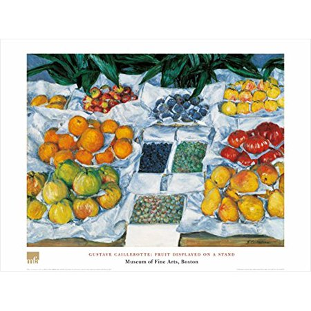 - Fruit Displayed On A Stand by Gustave Caillebotte 24x32 Art Print Poster Still Life Famous Painting Fruit Assortment