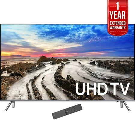 Samsung 74 5   4K Ultra Hd Smart Led Tv 2017 Model  Un75mu8000  With 1 Year Extended Warranty