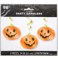 "26"" Hanging Pumpkin Halloween Decorations, 3ct"